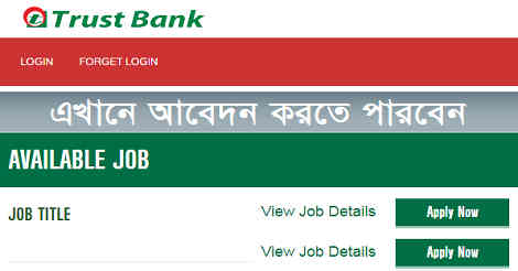 Trust bank Limited job circular In 2019