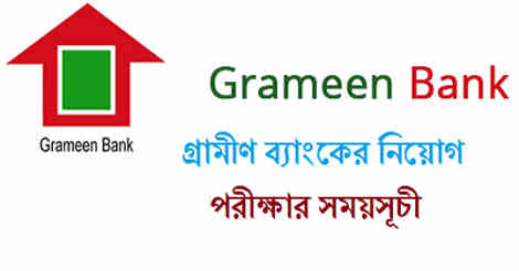 Grameen Bank Exam Date 2019